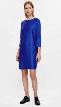 Cos акционная цена тёплое нарядное синее платье 36-38 размера COS за 1299 грн.