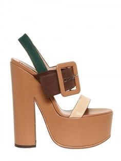 Rochas 150mm Canvas & Leather Buckle Sandals http://www.luisaviaroma.com/productid/itemcode/55I-AKG001