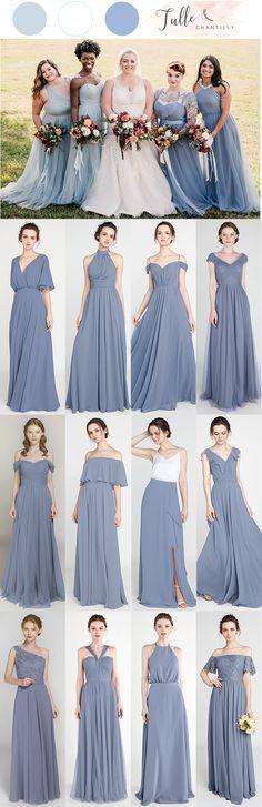 Affordable mismatched long tulle and chiffon bridesmaid dresses  wedding   weddinginspiration  bridesmaids  bridesmaiddress 3220776306a2