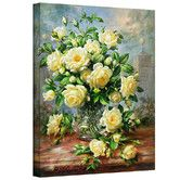 """Found it at Wayfair - """"Princess Diana Roses in a Cut Glass Vase"""" by Albert Williams Painting Print on Canvas"""