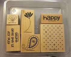 Stampin Up Rubber Stamps Polka Dots Paisley 6 Mounted Never Used ...