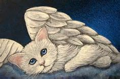 Art: WHITE ANGEL KITTEN CAT - I MISS YOU TOO by Artist Cyra R. Cancel