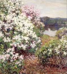 Mountain Laurel by Willard Metcalf ~ recently saw this piece at the New Britain Museum of American Art.
