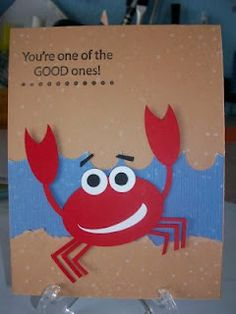 Ruth's Stamping Corner: First Monday of the Month Card Challenge Diy Birthday, Birthday Cards, Paper Punch Art, Scrapbook Cards, Scrapbooking, Cartoon Fish, Ocean Crafts, Animal Cards, Paper Crafts