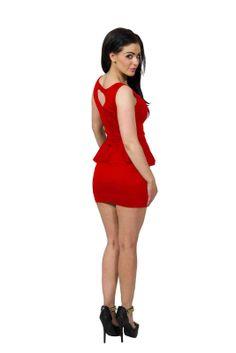 BNWT Womens Square Neck Black Plus Size Peplum Frill Dress Top UK Size 8-24