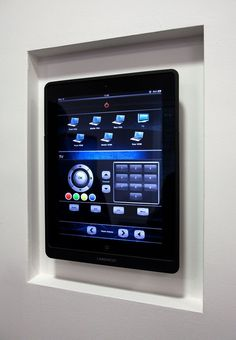 Attractive Structured Wiring System For A Smart Home. See More. Wall Mounted #iPad To  Control All AV Devises In Any Room Or Property . Awesome Design