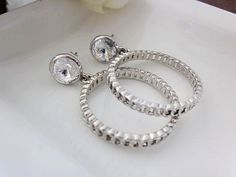 Crystal Roundness Earrings $12.50