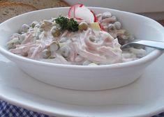 Domácí vlašský salát recept - TopRecepty.cz Czech Recipes, Ethnic Recipes, Worcester, Salad Dressing, Ham, Salad Recipes, Potato Salad, Food And Drink, Soup