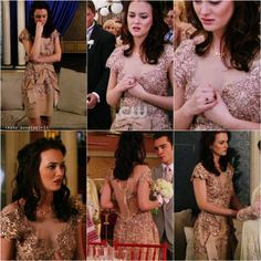 Blair Waldorf at Dorota's wedding....always so classy and elegant. I love that dress!