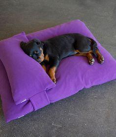 Resultado de imagem para como fazer cama para rottweiler