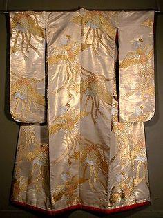 Silk kimono for a wall-hanging
