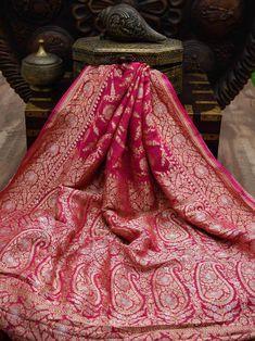 Dhoti Saree, Banarasi Sarees, Saree Blouse, Lehenga, Silk Sarees, Sari, Red Saree Wedding, Saree Designs Party Wear, Weave Shop