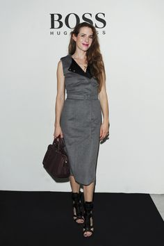 #JuliaMalik with the #BerlinBag and in a #boss dress at the #store #opening in #Zürich #hugoboss