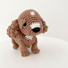 Made to Order CAVOODLE crochet amigurumi Cute Crochet, Crochet Toys, Cavoodle Dog, Crochet Dog Patterns, Tan Body, All Toys, Jelly Beans, Stuffed Toys Patterns, Gifts For Kids
