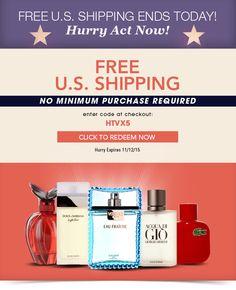 Last chance - Free U.S. Shipping, No Minimum  https://freshpickeddeals.com/fragrancenet.com/last-chance--free-us-shipping-no-minimum-685464