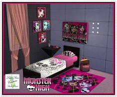 Chambre monster high sur pinterest barbie furniture lits superpos s de poup e et d coration - Accessoire monster high pour chambre ...
