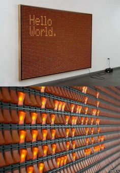 (Hello World.) by Valentin Ruhry, 2011 - Untitled (Hello World.) by Valentin Ruhry, 2011 -Untitled (Hello World.) by Valentin Ruhry, 2011 - Untitled (Hello World.) by Valentin Ruhry, 2011 - Electromagnetic mecanical flip-dot displays Wayfinding Signage, Signage Design, Banner Design, Environmental Graphics, Environmental Design, Exposition Interactive, Interaktives Design, Stand Design, Booth Design