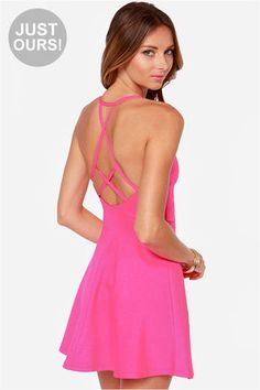 $40 LULUS Exclusive Take Heart Hot Pink Dress at Lulus.com!