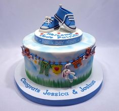 Baby Converse Cake by Custom Cakes by Ann Marie