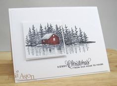IC521 Inspired Cabin on the Lake by artystamper - Cards and Paper Crafts at Splitcoaststampers - her inspiration was http://www.splitcoaststampers.com/gallery/photo/2300290