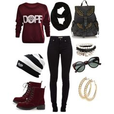 Here is Girl Swag Outfit Picture for you. Girl Swag Outfit pin dimps on clothes swag outfits cute outfits. Hipster Outfits For Teens, Swag Outfits For Girls, Dope Outfits, Girl Outfits, Casual Outfits, Fashion Outfits, Pretty Outfits, Hipster Ideas, Swag Girls