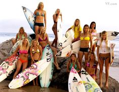 The now and the future of women's surfing.