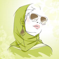 Buy Spring Fashion Girl Portrait in Green Colors by macrovector on GraphicRiver. Spring fashion girl portrait in green colors wearing headscarf with floral background vector illustration. Spring Fashion, Girl Fashion, Face Fashion, Girl With Sunglasses, Fashion Illustration Sketches, Fashion Figures, Color Vector, Logo Images, Graphic Prints