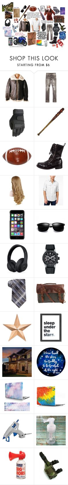 """Alfred F.Jones: Co-Personification of America - Everyday"" by flyingunikittys-poopattack on Polyvore featuring Melissa, Ricardo B.H., AMIRI, Barbed, Giuseppe Zanotti, Kawasaki, Michael Kors, Dolce&Gabbana, Beats by Dr. Dre and TAG Heuer"