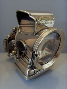 "1920s JOSEPH LUCAS ""SILVER KING"" VINTAGE BICYCLE LAMP. 