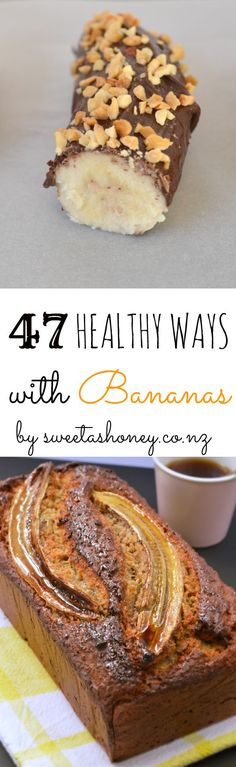 47 ways with bananas #sweetashoneynz #banana #bananarecipe #healthybanana #fbananabread #frozenbanana #wholesome #natural