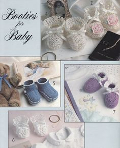 Baby Booties Crochet Patterns with Thread