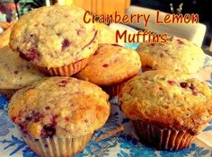 Cranberry Lemon Muffins - Using cranberry sauce, these muffins are unbelievably amazing!  Lovefoodies