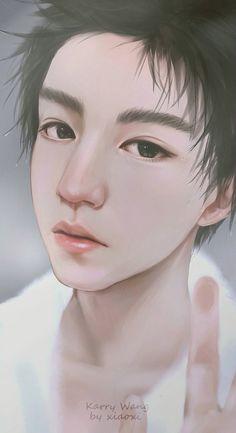 Wang Junkai #WJK #Karry #WangKarry #王俊凯 #หวังจุนไค #จุนไค #tfboys #fanart #wallphone #lockscreen