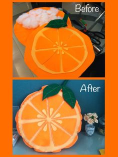 Homemade Orange Fruit Costume//Felt Orange