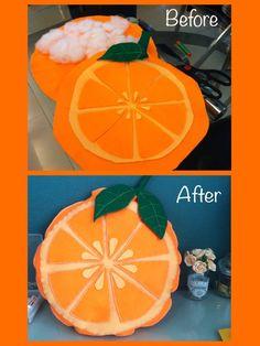 Homemade Orange Fruit Costume//Felt Orange