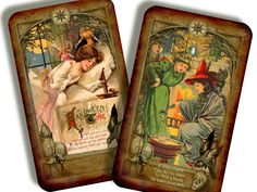 Vintage Halloween TREAT Cards from the Samhain Deck of the Bastard!