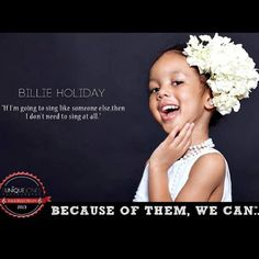 Billie Holiday- Courtesy of Eunique Jones Photography & the Because of Them, We Can Campaign.
