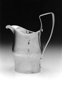 Silver Creampot -  about 1800 -  Paul Revere, Jr. (American, 1734–1818) - Made in Boston, Massachusetts -  Dimensions: 15.3 x 13.5 x 7.5 cm (6 x 5 5/16 x 2 15/16)
