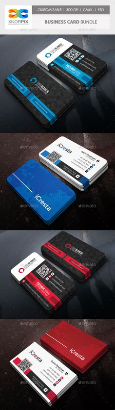 #Business Card #Bundle - #Corporate Business Cards Download here: https://graphicriver.net/item/business-card-bundle/18060896? ref=alena994