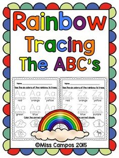 26 Alphabet RainbowTracing Pages and Students identify beginning sounds too. Rainbow tracing is great for fine motor practice or development and color identification as well. Learning Spanish For Kids, Spanish Activities, Teaching Spanish, Dual Language, Language Arts, Spanish Language, Abc Centers, Spanish Lessons, Spanish Class