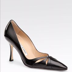 Manolo Blahnik Butterfly Cutout Pumps