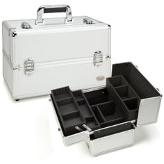Seya Silver Aluminum Professional Makeup Case with 3 Trays | Overstock.com Shopping - The Best Deals on Makeup Cases http://www.overstock.com/Health-Beauty/Seya-Silver-Aluminum-Professional-Makeup-Case-with-3-Trays/8300401/product.html?refccid=7ATX6XJJF7TJ2ECDNOURS2HSBY&searchidx=113