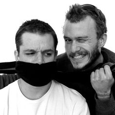 Matt Damon and Heath Ledger: This is such a funny picture. He was such a good actor...