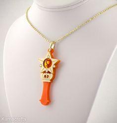 READY TO SHIP Sailor Moon Inspired Sailor Venus Henshin/Transformation Wand Necklace - $25.00 via KumaCrafts on Etsy.