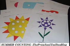 Free Printable Summer Math Mats #'s 1-10 #preschool #ece #kidsmath