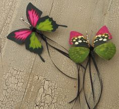 Two adorable butterfly hair pins via Etsy by: 3Mimis