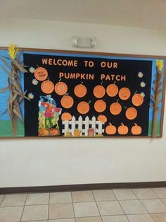 Welcome To Our Pumpkin Patch Bulletin Board