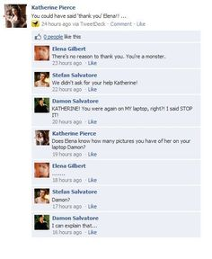 "Vampire Diaries funny facebook...""I can explain that."" <--- that cracked me up!"