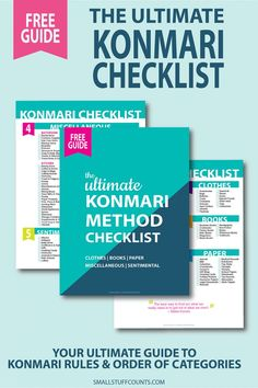 Ready to konmari your house? Declutter your home with the free konmari method checklist. Konmari Methode, Budget Organization, Organizing Ideas, Sparks Joy, Home Management Binder, Tidy Up, Clean House, Free Printables, How To Find Out