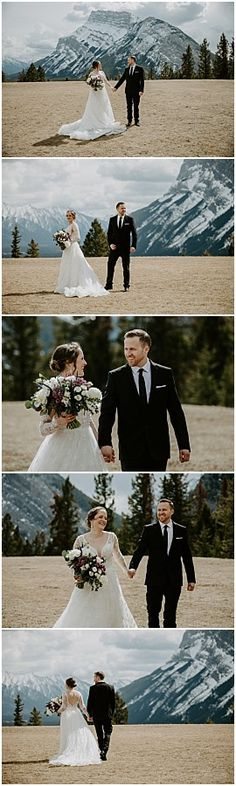 We got all the seasons during Jessica & Mike's spring Sky Bistro Banff wedding. It went from hot and sunny, to sleet, to full on white-out blizzard - but that's just the normal for spring in the mountains. Wedding Couple Photos, Bride And Groom Pictures, Wedding Couples, Wedding Hire, Wedding Songs, Dress Wedding, Wedding Photography Inspiration, Party Photos, Banff